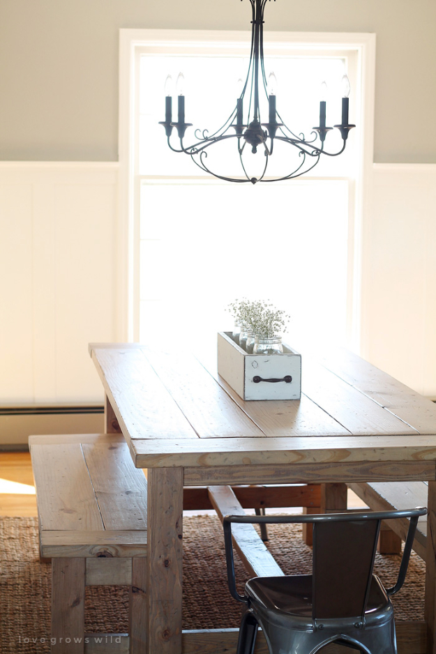 41 More DIY Farmhouse Style Decor Ideas - DIY Farmhouse Table - Creative Rustic Ideas for Cool Furniture, Paint Colors, Farm House Decoration for Living Room, Kitchen and Bedroom http://diyjoy.com/diy-farmhouse-decor-projects