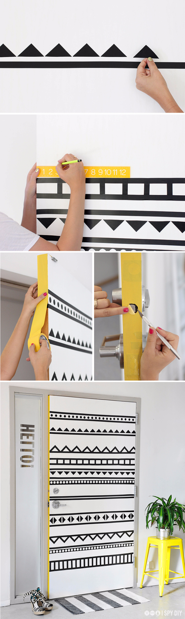 DIY Projects for Teenagers - DIY Graphic Door - Cool Teen Crafts Ideas for Bedroom Decor, Gifts, Clothes and Fun Room Organization. Summer and Awesome School Stuff