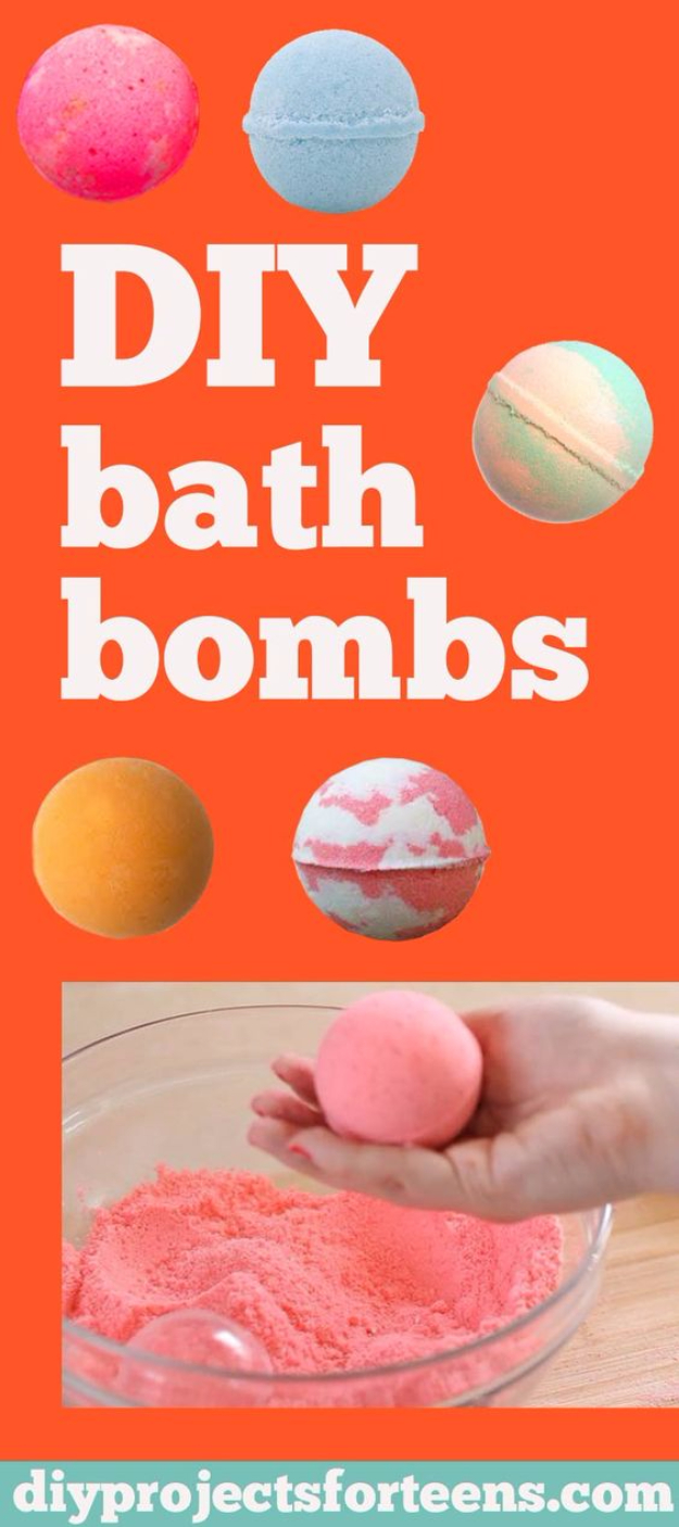 DIY Projects for Teenagers - DIY Lush Bath Bombs - Cool Teen Crafts Ideas for Bedroom Decor, Gifts, Clothes and Fun Room Organization. Summer and Awesome School Stuff