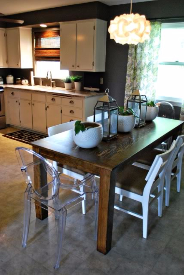 DIY Dining Room Table Projects - DIY Modified Modern Farmhouse Table - Creative Do It Yourself Tables and Ideas You Can Make For Your Kitchen or Dining Area. Easy Step by Step Tutorials that Are Perfect For Those On A Budget #diyfurniture #diningroom