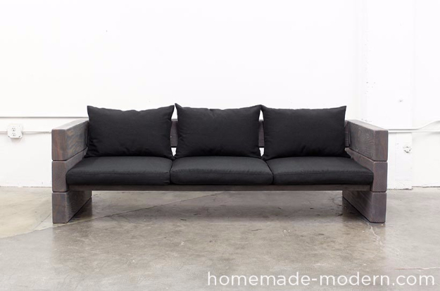 DIY Sofas and Couches - DIY Outdoor Sofa - Easy and Creative Furniture and Home Decor Ideas - Make Your Own Sofa or Couch on A Budget - Makeover Your Current Couch With Slipcovers, Painting and More. Step by Step Tutorials and Instructions #diy #furniture