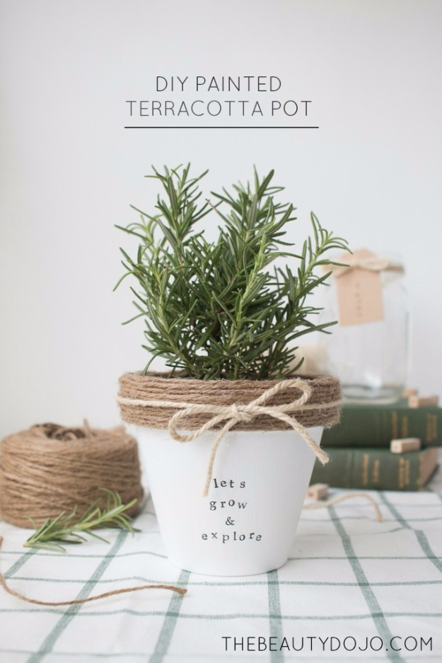 DIY Projects to Make and Sell on Etsy - Easy Etsy Crafts to Sell - DIY Painted Terracotta Pot - Learn How To Make Money on Etsy With these Awesome, Cool and Easy Crafts and Craft Project Ideas - Cheap and Creative Crafts to Make and Sell on Etsy Shops