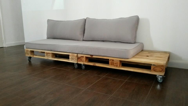 DIY Sofas And Couches   DIY Pallet Couch With Wheels   Easy And Creative  Furniture And