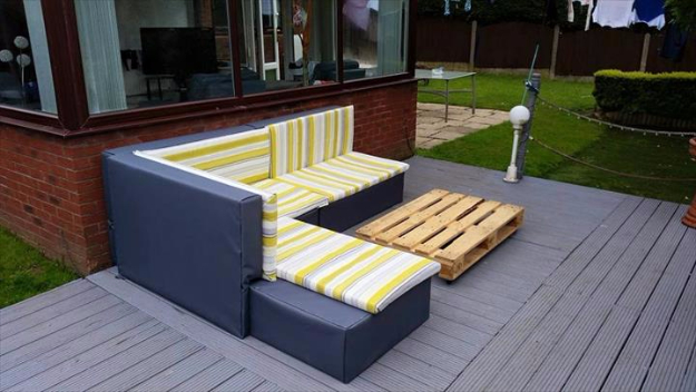 DIY Sofas and Couches - DIY Pallet Upholstered Sectional Sofa Tutorial - Easy and Creative Furniture and Home Decor Ideas - Make Your Own Sofa or Couch on A Budget - Makeover Your Current Couch With Slipcovers, Painting and More. Step by Step Tutorials and Instructions #diy #furniture