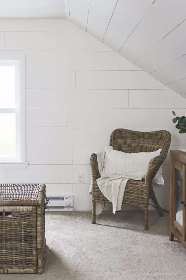 DIY Farmhouse Style Decor Ideas - DIY Planked Walls - Creative Rustic Ideas for Cool Furniture, Paint Colors, Farm House Decoration for Living Room, Kitchen and Bedroom #diy #diydecor #farmhouse #countrycrafts