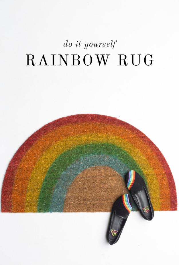 Rainbow Doormat Great Home U More Rainbow Welcome Outdoor