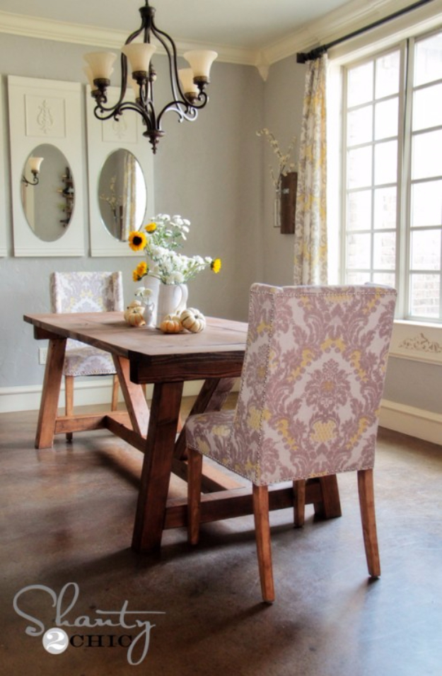DIY Dining Room Table Projects - DIY Restoration Hardware Dining Table - Creative Do It Yourself Tables and Ideas You Can Make For Your Kitchen or Dining Area. Easy Step by Step Tutorials that Are Perfect For Those On A Budget #diyfurniture #diningroom