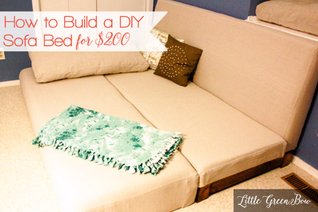 DIY Sofas and Couches - DIY Sofa Bed For Less - Easy and Creative Furniture and Home Decor Ideas - Make Your Own Sofa or Couch on A Budget - Makeover Your Current Couch With Slipcovers, Painting and More. Step by Step Tutorials and Instructions #diy #furniture