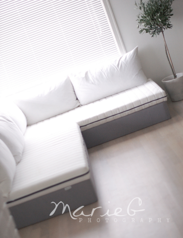 DIY Sofas and Couches - DIY Sofa With Ikea - Easy and Creative Furniture and Home Decor Ideas - Make Your Own Sofa or Couch on A Budget - Makeover Your Current Couch With Slipcovers, Painting and More. Step by Step Tutorials and Instructions #diy #furniture
