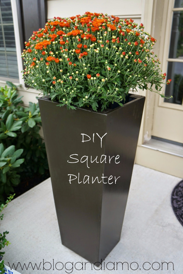 Creative DIY Planters - DIY Tall Square Planters - Best Do It Yourself Planters and Crafts You Can Make For Your Plants - Indoor and Outdoor Gardening Ideas - Cool Modern and Rustic Home and Room Decor for Planting With Step by Step Tutorials #gardening #diyplanters #diyhomedecor