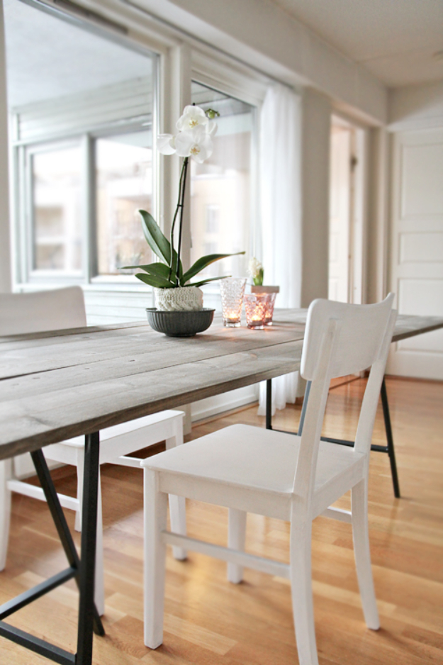 DIY Dining Room Table Projects - DIY Trendy Dining Table - Creative Do It Yourself Tables and Ideas You Can Make For Your Kitchen or Dining Area. Easy Step by Step Tutorials that Are Perfect For Those On A Budget #diyfurniture #diningroom