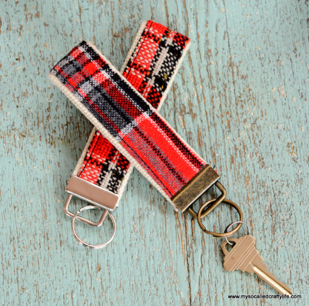 Sewing Crafts To Make and Sell - DIY Vintage Fabric Key Chains - Easy DIY Sewing Ideas To Make and Sell for Your Craft Business. Make Money with these Simple Gift Ideas, Free Patterns, Products from Fabric Scraps, Cute Kids Tutorials #sewing #crafts