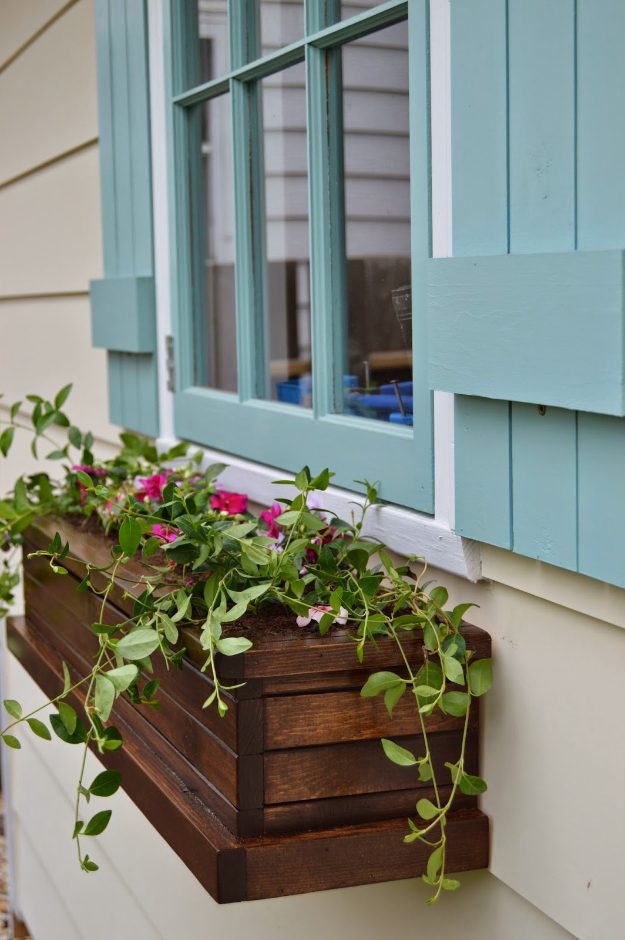 Creative DIY Planters - DIY Window Flower Boxes - Best Do It Yourself Planters and Crafts You Can Make For Your Plants - Indoor and Outdoor Gardening Ideas - Cool Modern and Rustic Home and Room Decor for Planting With Step by Step Tutorials #gardening #diyplanters #diyhomedecor