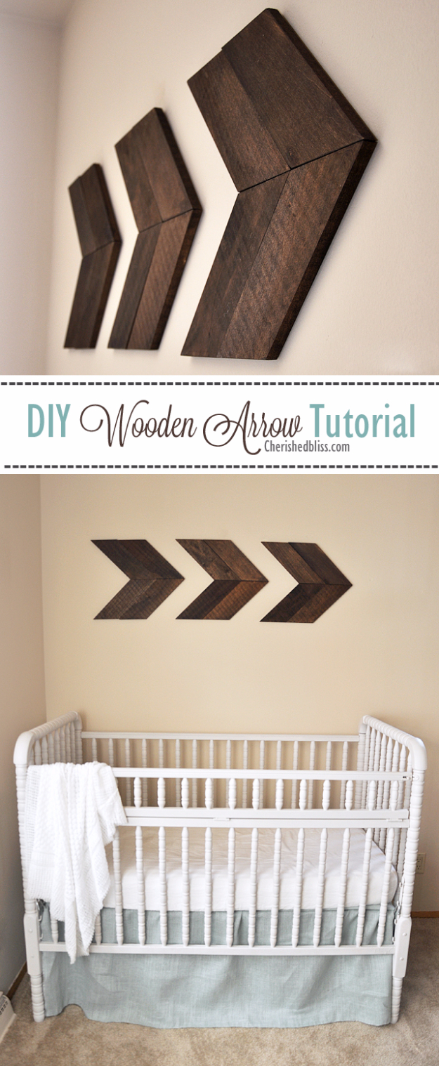 DIY Farmhouse Style Decor Ideas - DIY Wooden Arrow Tutorial - Creative Rustic Ideas for Cool Furniture, Paint Colors, Farm House Decoration for Living Room, Kitchen and Bedroom #diy #diydecor #farmhouse #countrycrafts