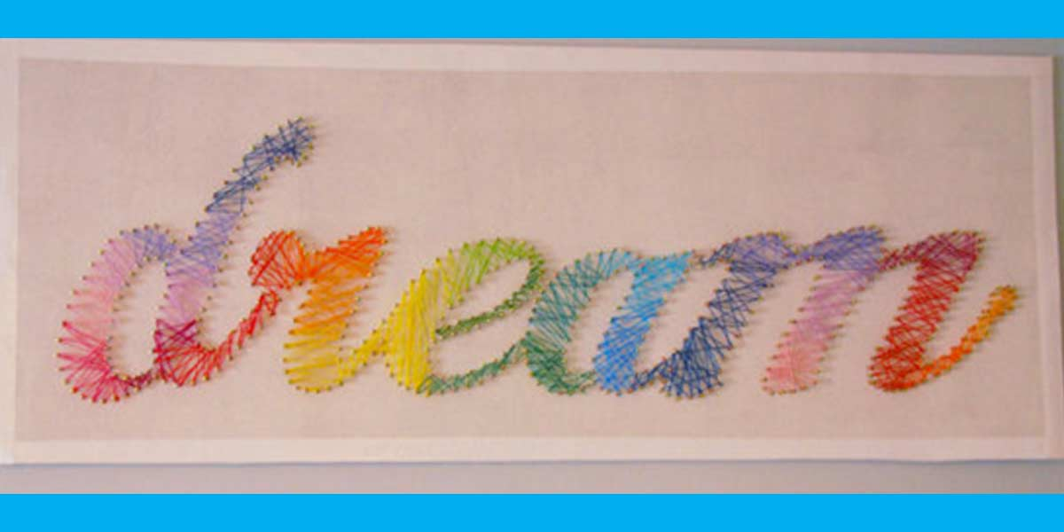 DIY Projects for Teenagers - DREAM String Art - Cool Teen Crafts Ideas for Bedroom Decor, Gifts, Clothes and Fun Room Organization. Summer and Awesome School Stuff