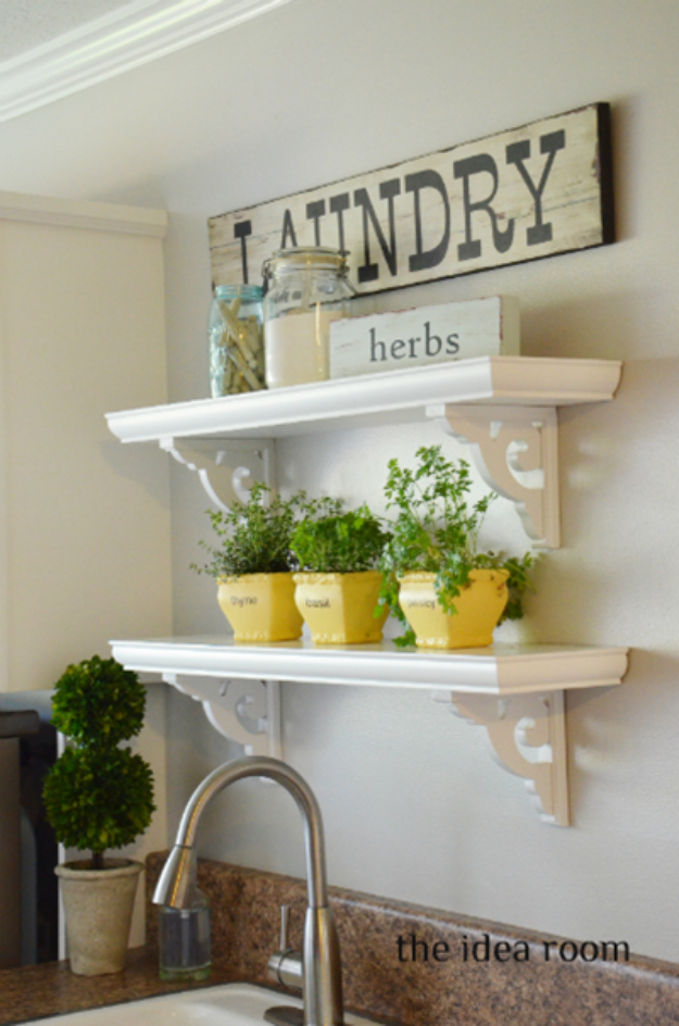 DIY Shelves and Do It Yourself Shelving Ideas - Decorative Shelves - Easy Step by Step Shelf Projects for Bedroom, Bathroom, Closet, Wall, Kitchen and Apartment. Floating Units, Rustic Pallet Looks and Simple Storage Plans #diy #diydecor #homeimprovement #shelves