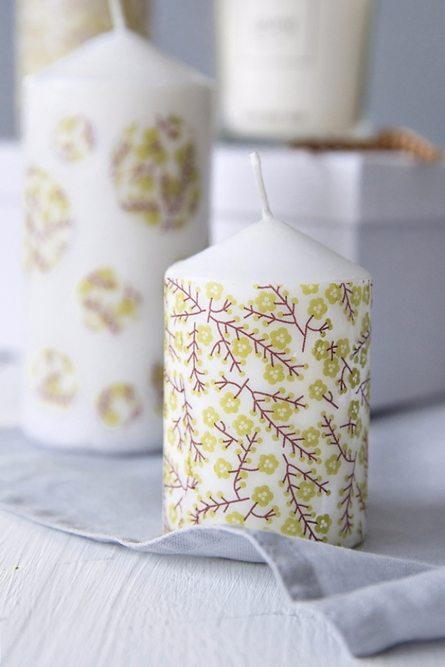 Cheap Crafts To Make and Sell - Decoupaged Candles - Inexpensive Ideas for DIY Craft Projects You Can Make and Sell On Etsy, at Craft Fairs, Online and in Stores. Quick and Cheap DIY Ideas that Adults and Even Teens Can Make on A Budget #diy #crafts #craftstosell #cheapcrafts