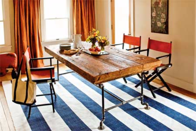 DIY Dining Room Table Projects - Dining Table from Salvaged Beams - Creative Do It Yourself Tables and Ideas You Can Make For Your Kitchen or Dining Area. Easy Step by Step Tutorials that Are Perfect For Those On A Budget #diyfurniture #diningroom