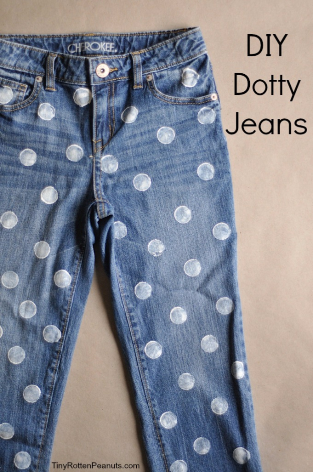 DIY Projects for Teenagers - Dotty Jeans - Cool Teen Crafts Ideas for Bedroom Decor, Gifts, Clothes and Fun Room Organization. Summer and Awesome School Stuff