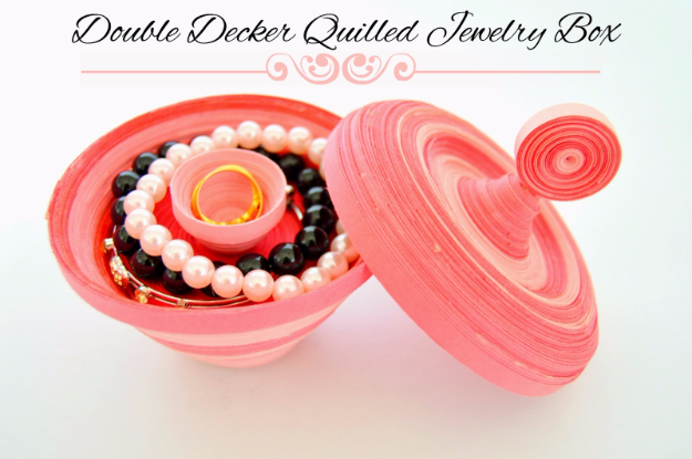DIY Projects to Make and Sell on Etsy - Double Decker Quilled Jewelry Box - Learn How To Make Money on Etsy With these Awesome, Cool and Easy Crafts and Craft Project Ideas - Cheap and Creative Crafts to Make and Sell for Etsy Shop #etsy #crafts