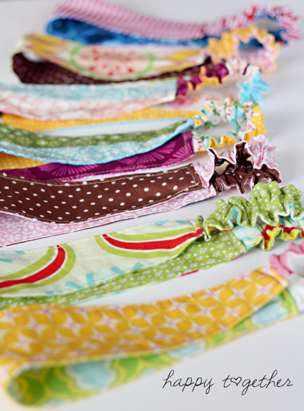 Sewing Crafts To Make and Sell - Double Sided Fabric Headband - Easy DIY Sewing Ideas To Make and Sell for Your Craft Business. Make Money with these Simple Gift Ideas, Free Patterns, Products from Fabric Scraps, Cute Kids Tutorials #sewing #crafts