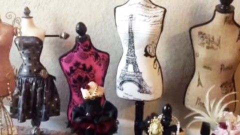 Stylish & Feminine Dress Form Pin Cushions Are So Nouveau Riche! | DIY Joy Projects and Crafts Ideas