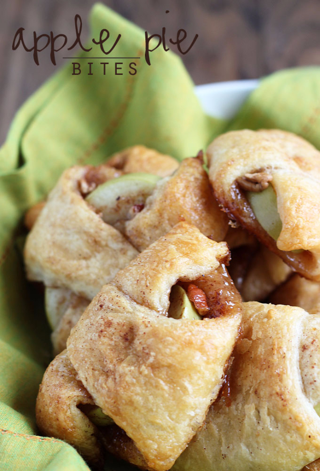 Last Minute Dessert Recipes and Ideas - Easy Apple Pie Bites - Healthy and Easy Ideas for No Bake Recipe Foods, Chocolate, Peanut Butter. Best Simple Ideas for Summer, For A Crowd and for Parties