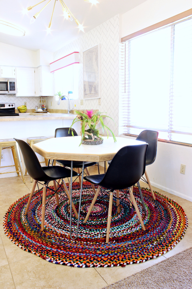 DIY Dining Room Table Projects - Easy DIY Hexagon Table - Creative Do It Yourself Tables and Ideas You Can Make For Your Kitchen or Dining Area. Easy Step by Step Tutorials that Are Perfect For Those On A Budget #diyfurniture #diningroom