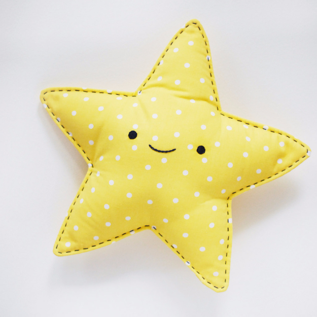 Sewing Crafts To Make and Sell - Easy Sew Star Snuggler - Easy DIY Sewing Ideas To Make and Sell for Your Craft Business. Make Money with these Simple Gift Ideas, Free Patterns, Products from Fabric Scraps, Cute Kids Tutorials #sewing #crafts