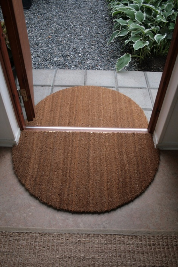 DIY Ideas for Your Entry - Entryway Door Mat DIY - Cool and Creative Home Decor or Entryway and Hall. Modern, Rustic and Classic Decor on a Budget. Impress House Guests and Fall in Love With These DIY Furniture and Wall Art Ideas #diydecor #diyhomedecor