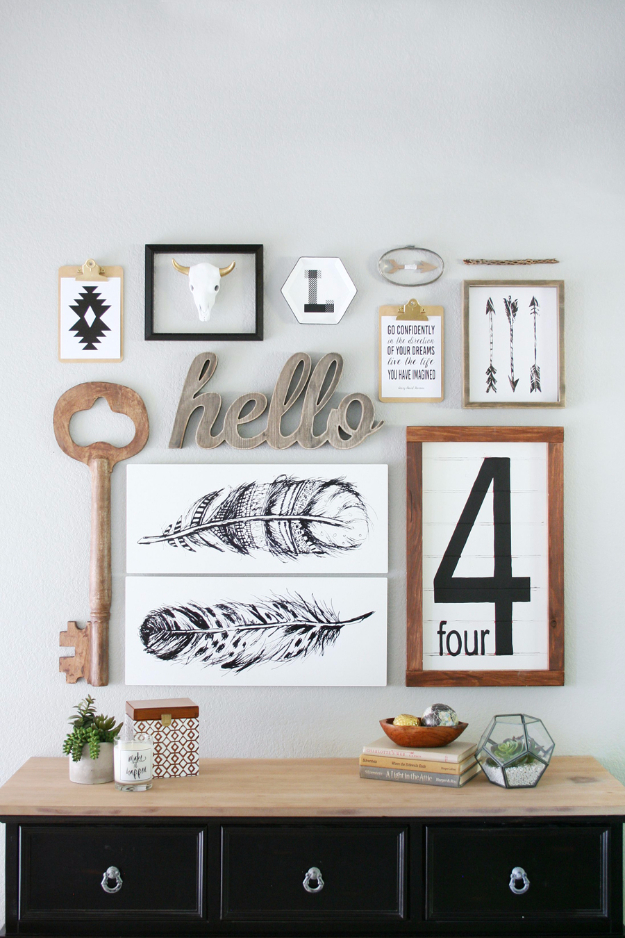 DIY Ideas for Your Entry - Entryway Gallery Wall With Shutterfly - Cool and Creative Home Decor or Entryway and Hall. Modern, Rustic and Classic Decor on a Budget. Impress House Guests and Fall in Love With These DIY Furniture and Wall Art Ideas #diydecor #diyhomedecor