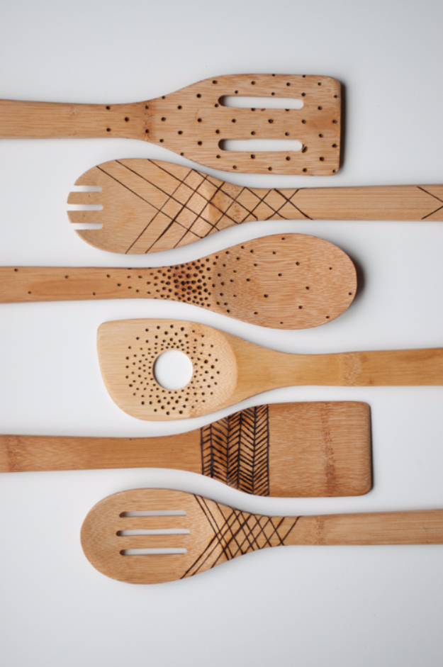 Diy Projects To Make And On Etsy Etched Wooden Spoons Learn How