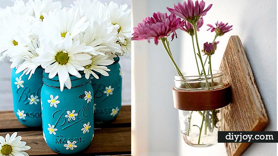 Diy Mason Jar Vases Best Vase Projects And Ideas For Mason Jars