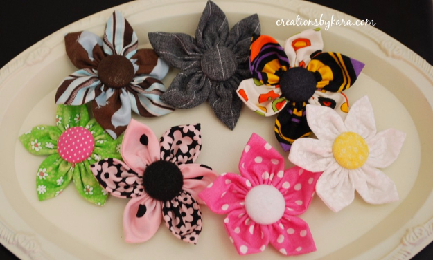 DIY Projects to Make and Sell on Etsy - Fabric Flower Hair Clip - Learn How To Make Money on Etsy With these Awesome, Cool and Easy Crafts and Craft Project Ideas - Cheap and Creative Crafts to Make and Sell for Etsy Shop #etsy #crafts