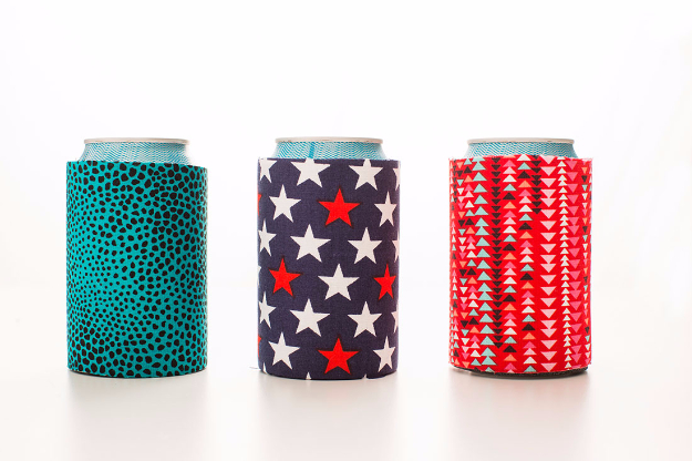 Cheap Crafts To Make and Sell - Fabric Koozies - Inexpensive Ideas for DIY Craft Projects You Can Make and Sell On Etsy, at Craft Fairs, Online and in Stores. Quick and Cheap DIY Ideas that Adults and Even Teens Can Make on A Budget #diy #crafts #craftstosell #cheapcrafts