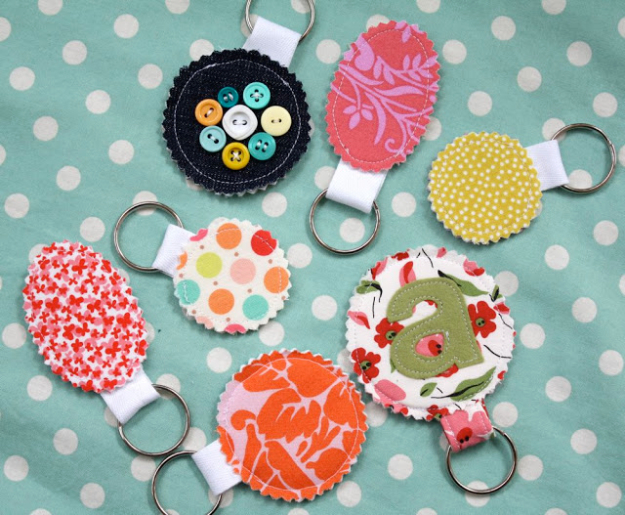 Cheap Crafts To Make and Sell - Fabric Scrap Key Chains - Inexpensive Ideas for DIY Craft Projects You Can Make and Sell On Etsy, at Craft Fairs, Online and in Stores. Quick and Cheap DIY Ideas that Adults and Even Teens Can Make on A Budget #diy #crafts #craftstosell #cheapcrafts