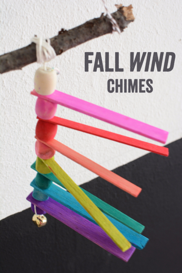 DIY Wind Chimes - Fall Wind Chimes - Easy, Creative and Cool Windchimes Made from Wooden Beads, Pipes, Rustic Boho and Repurposed Items, Silverware, Seashells and More. Step by Step Tutorials and Instructions #windchimes #diygifts #diyideas #crafts