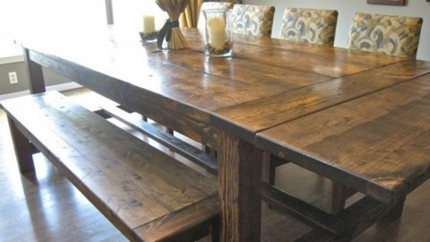 This Lovely Farmhouse Table Will Seat LOTS of People And Adds So Much Charm! | DIY Joy Projects and Crafts Ideas