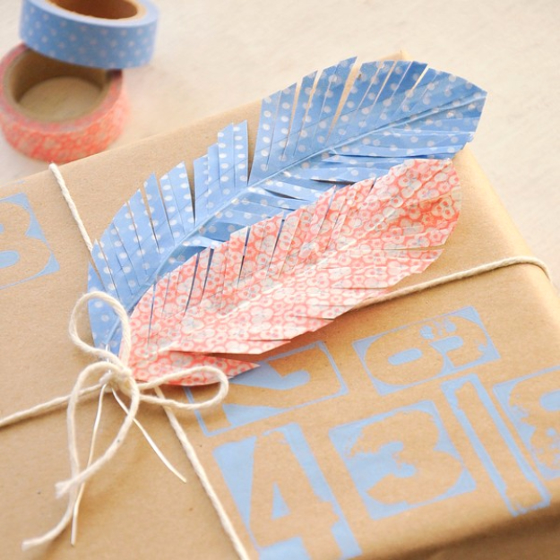 DIY Projects to Make and Sell on Etsy - Faux Feathers Washi Tape Project - Learn How To Make Money on Etsy With these Awesome, Cool and Easy Crafts and Craft Project Ideas - Cheap and Creative Crafts to Make and Sell for Etsy Shop #etsy #crafts