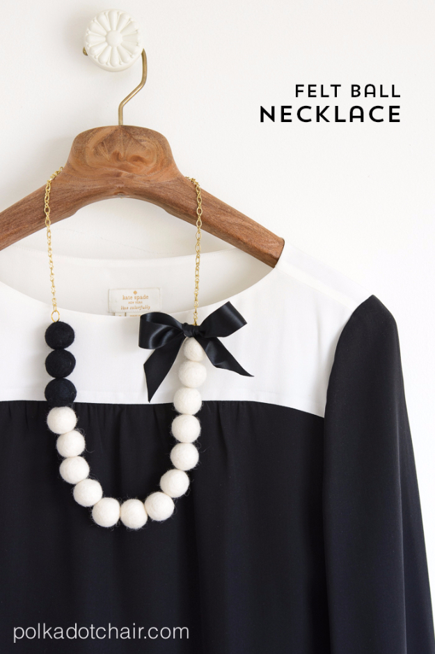 Cheap Crafts To Make and Sell - Felt Ball Necklace - Inexpensive Ideas for DIY Craft Projects You Can Make and Sell On Etsy, at Craft Fairs, Online and in Stores. Quick and Cheap DIY Ideas that Adults and Even Teens Can Make on A Budget #diy #crafts #craftstosell #cheapcrafts