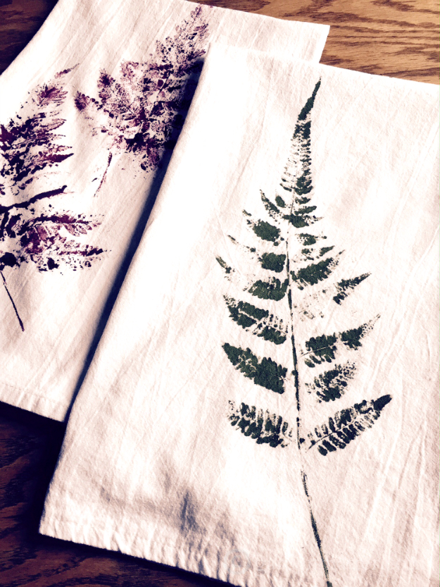 DIY Projects to Make and Sell on Etsy - Fern Printed Tea Towels - Learn How To Make Money on Etsy With these Awesome, Cool and Easy Crafts and Craft Project Ideas - Cheap and Creative Crafts to Make and Sell for Etsy Shop #etsy #crafts