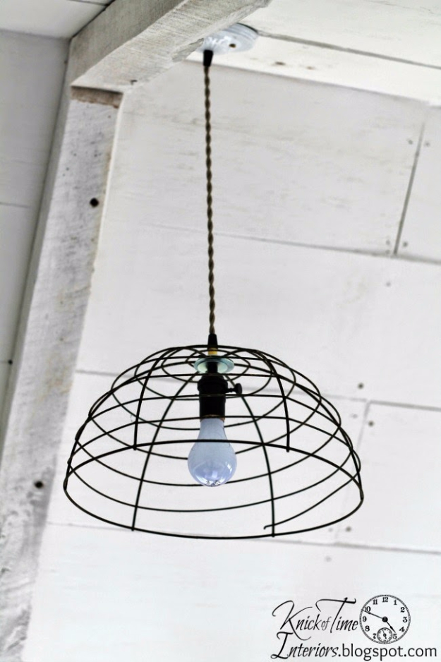41 More DIY Farmhouse Style Decor Ideas - Flower Basket Pendant Light - Creative Rustic Ideas for Cool Furniture, Paint Colors, Farm House Decoration for Living Room, Kitchen and Bedroom http://diyjoy.com/diy-farmhouse-decor-projects