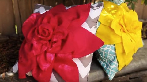 DIY Flower Pillows Are So Incredibly Stunning & Easy to Make! | DIY Joy Projects and Crafts Ideas