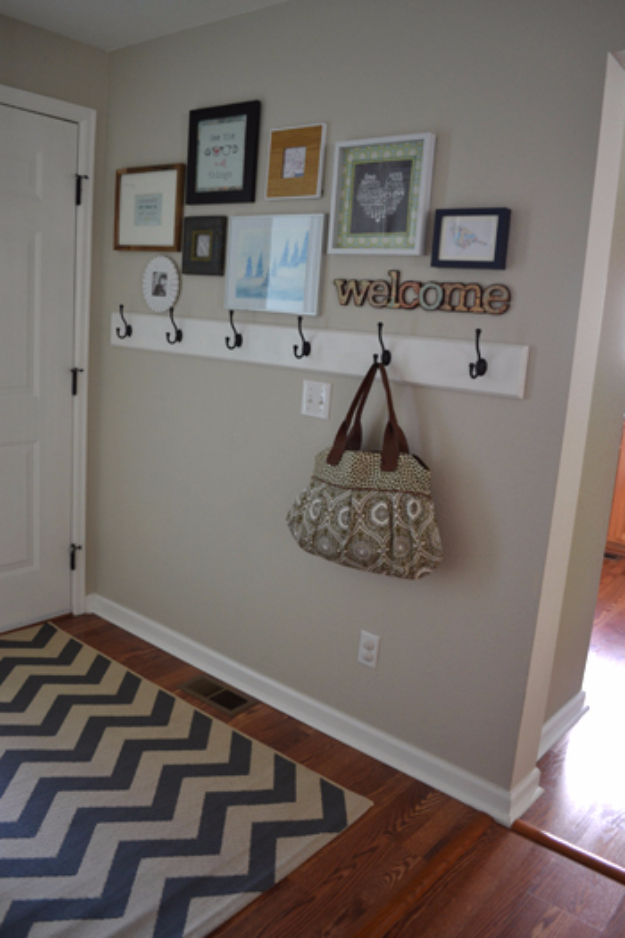 DIY Ideas for Your Entry - Frame Gallery In The Entryway - Cool and Creative Home Decor or Entryway and Hall. Modern, Rustic and Classic Decor on a Budget. Impress House Guests and Fall in Love With These DIY Furniture and Wall Art Ideas #diydecor #diyhomedecor