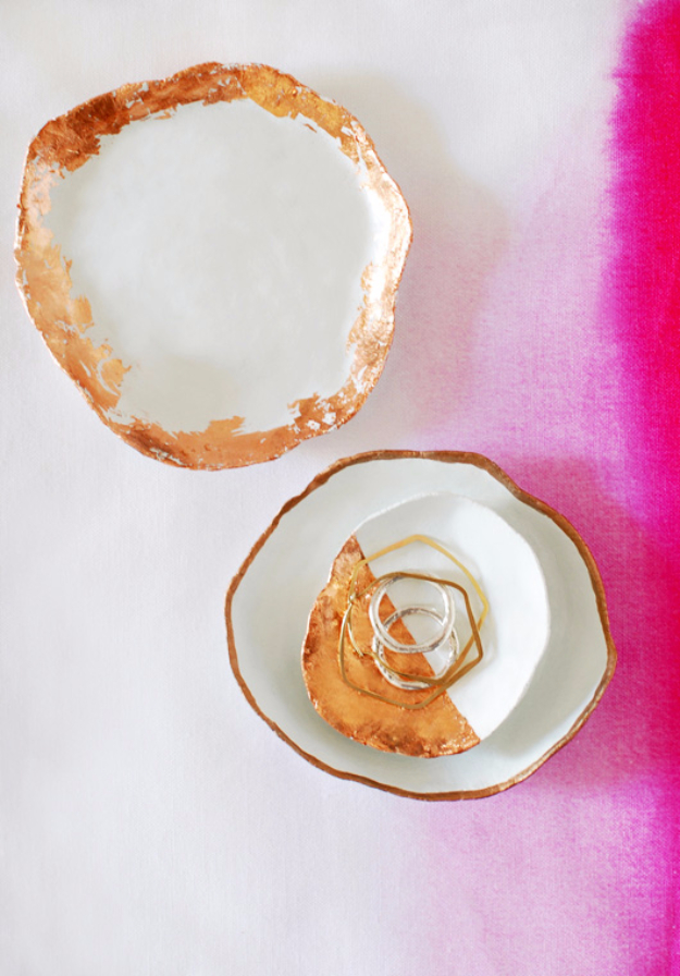 DIY Projects for Teenagers - Handmade Jewelry Dishes With Copper Touches - Cool Teen Crafts Ideas for Bedroom Decor, Gifts, Clothes and Fun Room Organization. Summer and Awesome School Stuff