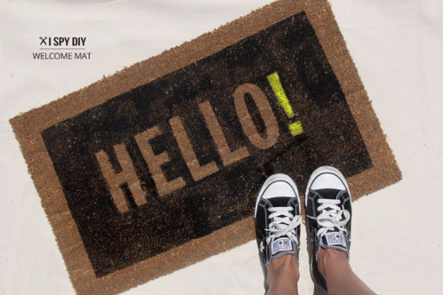 diy welcome mats hello welcome mat greet guests in style with these easy and
