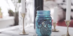 Beautiful Henna Mason Jar Lantern Adds So Much Charm To A Room or Patio!