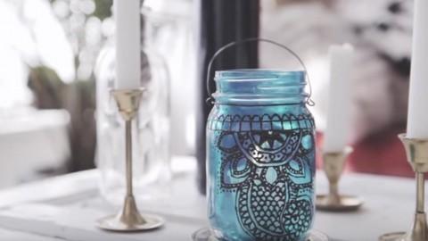 Beautiful Henna Mason Jar Lantern Adds So Much Charm To A Room Or Patio