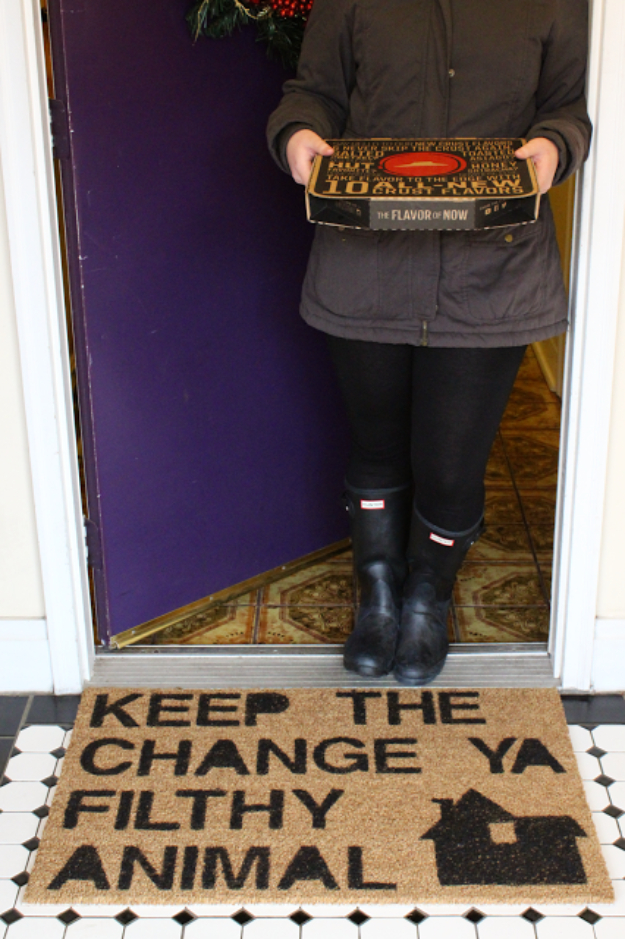Home Alone Inspired Doormat Diy Joy