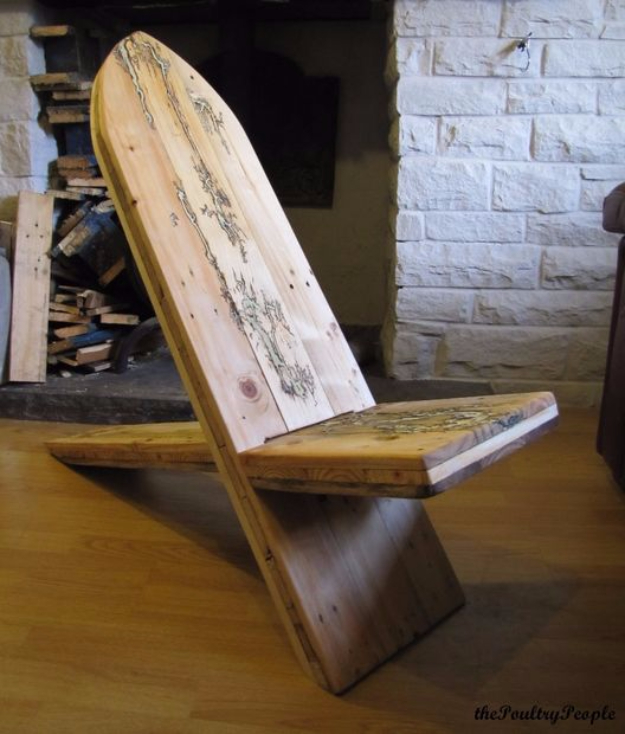 DIY Seating Ideas - Homemade Viking Chair DIY - Creative Indoor Furniture, Chairs and Easy Seat Projects for Living Room, Bedroom, Dorm and Kids Room. Cheap Projects for those On A Budget. Tutorials for Cushions, No Sew Covers and Benches